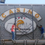 Instalación aviso Gran Casino Internacional
